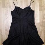 новое маленькое черное платье, украшено бисером
