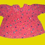 Вельветовое платье,рост 74 см