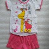 Пижама для девочки с забавным принтом