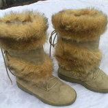 Продам сапоги замшевые на зиму размер 37,38