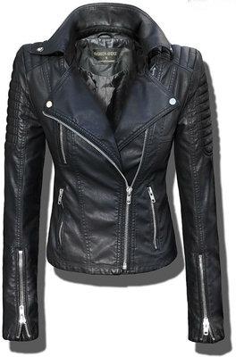 Женская демисезонная куртка косуха из эко-кожи,байкерская куртка