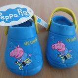 Кроксы 13 см аквашузы Peppa Pig george обувь для пляжа бассейна новые 12 см