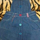Наш крутой джинсовый сарафан на 5-6 лет