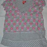 116 - 122 см Натуральная футболка для девочки