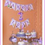 Святковий декор. лунтик.набор на день рождения. годовасие. фиксики 2 годика. украина