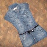 модное джинсовые платье