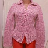 Кофта розовая толстая шерсть Anna's pull Made in Italy 44р