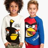 регланы для мальчиков от H&M - Angry Birds