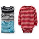 Американская детская одежда Carters Комплект боди 4 шт 9М и 12М с длинным рукавом, puppy 0000211
