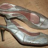 36р-24 см новые туфли кожа полностью кожа,