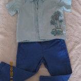 шведка, рубашка на мальчика 12 месяцев
