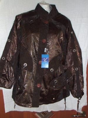 Шикарная,необычная Брендовая Привозная куртка деми сезон р 50
