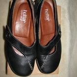 Нові туфлі стильні шкіряні Hotter comfort concept Оригінал Англія р.38,5 стелька 24,5 см