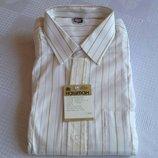 Белая рубашка в полоску новая