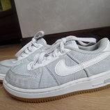 кроссовки кеди мокасины детские 17,3 см найк Nike белые серые