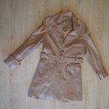 продам почти новое крутое кожаное пальто размер eur 38 бренд Tara