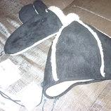 Комплект Sela детский зимний- шапка и рукавицы на 8-12 лет