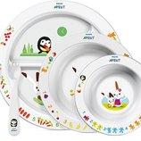 Набор детской посуды Philips Avent scf716/00 ,тарелки,ложка,вилка со склада