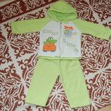 Теплый флисовый костюм на 1-2 года
