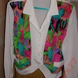 Нарядная блузка-двойка