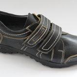 Кожаные туфли для подростка р. 37 24 см Украина