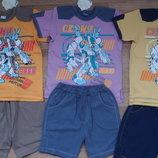 Летние костюмы из качественного хлопка мальчикам в наличии от 98 до 128