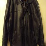 Куртка,пиджак кожаная чёрная,коричневая р.52-54