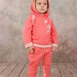Костюм спортивный из натурального хлопка для девочек 1.5 - 5 лет толстовка и брюки .