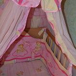 детское постельное балдахин защита матрас пеленка в кроватку