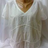 Тонкая батистовая нарядная блузка 56 размера