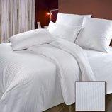 Белое постельное белье, Страйп-Сатин белый 100% хлопок