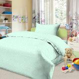 Детское постельное белье для новорожденных, Звездопад Ментоловый