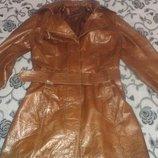 куртка- тренч кожаная натуральная размер S-XS Турция.