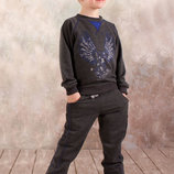 Спортивный костюм для мальчика реглан и брюки в трех цветах