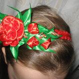 Обруч- роза с бутонами, разные цвета