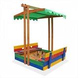 Детская песочница из дерева pes 10