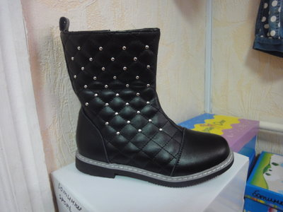 Демисезонные сапожки 28 р. 17,5 см., сапоги, флисе, ботинки, девочку, утепленные, весенние, осенние