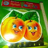 развивающие мягкие пазлы фрукты, зверюшки и другие