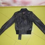 куртка кожа New look женская деми 42-44 р наш сост. новой ОТДАМ ЗАП 500