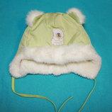 Детская зимняя шапка-дутик с ушками