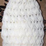 Зимняя двойная шапка-чулок на девочку