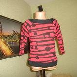 Новый реглан,свитер Minx Seventy на 7-8 лет, состав 100% хлопок, сделан в Англии
