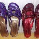 Новые красные и фиолетовые кожаные сабо-шлепанцы 36 размер. Украина
