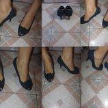 Туфли материал замш, цвет синие, состояние отличное