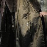 шикарное пальто из мутона размер 50