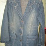 красивый джинсовый жакет размер 50