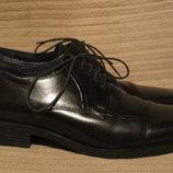 Строгие классические кожаные туфли-дерби Tom English. Англия. 43 р.
