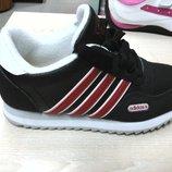 кожаные кроссовки adidas neo