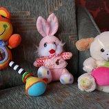 Мягкие игрушки зайчик, собачка, тигр игрушка музик