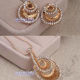 Комплект 18К Gold Plated, австрийские кристаллы